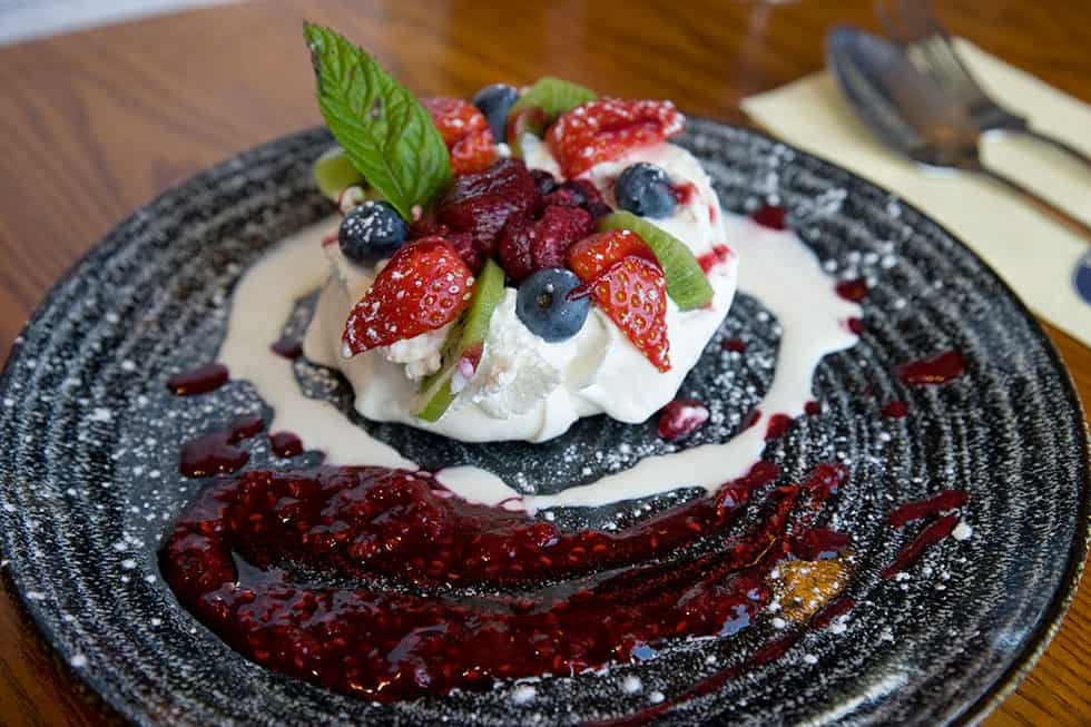 Lovely Berry Desert at the Rubbing House